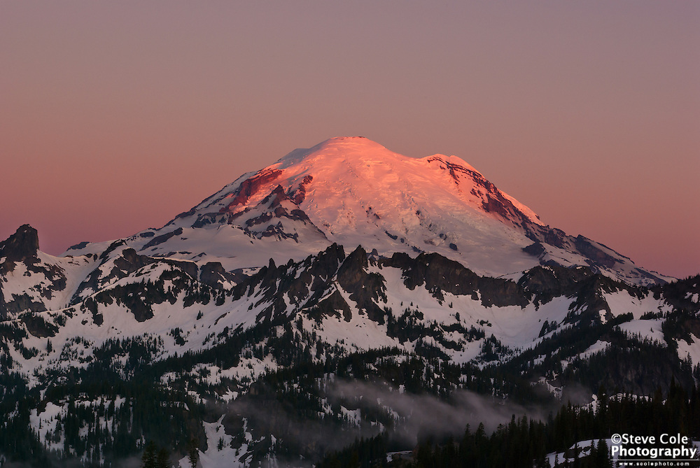 Dawn - Chinook Pass, Mount Rainier National Park