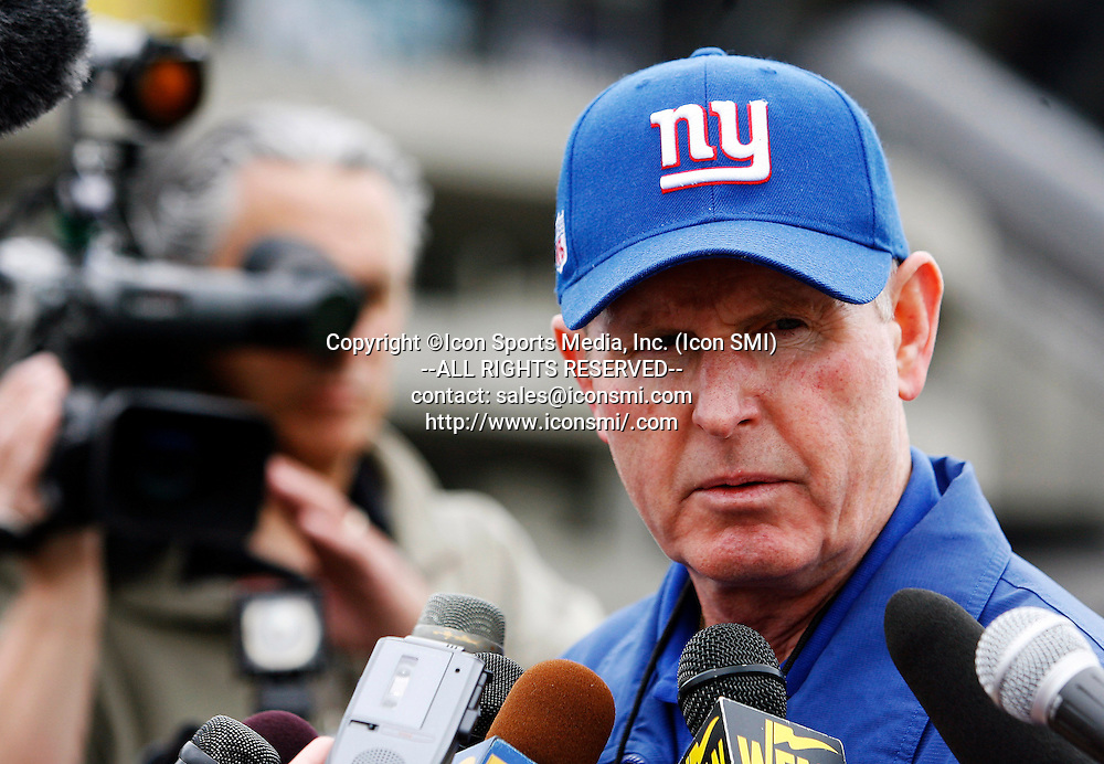 Tom Coughlin at Giants Stadium at East Rutherford, N.J., June 13, 2007.