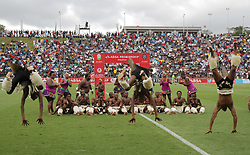 15042018 (Durban) Local traditional dance group performs before the start of the game of Pirates came from behind to grab a 2-1 win over AmaZulu to keep their title hopes alive in the Absa Premiership at King Zwelithini Stadium yesterday in Durban<br /> Picture: Motshwari Mofokeng/ANA