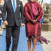 NLD/Amsterdaml/20181121 - Koningspaar ontvangt President Singapore, Koning Willem Alexander en Koningin Maxima