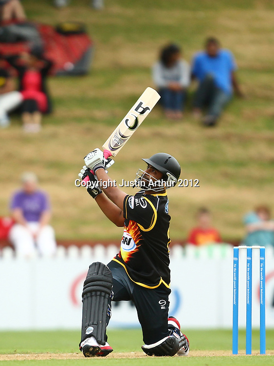 Tamim Iqbal in action during the 2012/2013 HRV Cup Twenty20 session. Wellington Firebirds v Central Stags at the Basin Reserve, Wellington, New Zealand on Wednesday 26 December 2012. Photo: Justin Arthur / photosport.co.nz