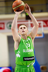 Gezim Morina of Slovenia during basketball match between National teams of Latvia and Slovenia in Qualifying Round of U20 Men European Championship Slovenia 2012, on July 16, 2012 in Domzale, Slovenia. Slovenia defeated Latvia 69-62. (Photo by Vid Ponikvar / Sportida.com)