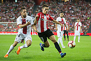 Cordoba of Athletic Club and Jorge Miramon of SD Huesca in action during the Spanish Championship La Liga match played in San Mames Stadium between Athletic Club and SD Huesca in Bilbao, Spain, at August 27th, 2018, Photo UGS / SpainProSportsImages / DPPI / ProSportsImages / DPPI