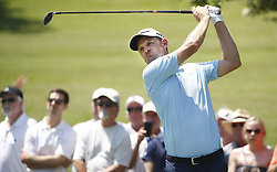 May 25, 2018 - Fort Worth, TX, USA - Justin Rose tees off on number 7 during the second day of the Invitational at Colonial Friday, May 25, 2018 in Fort Worth, Texas. (Credit Image: © Brad Loper/TNS via ZUMA Wire)