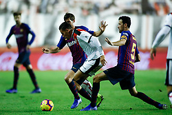 November 3, 2018 - Madrid, MADRID, SPAIN - Alex Alegria of Rayo during the Spanish Championship, La Liga, football match between Rayo Vallecano and FC Barcelona on November 03th, 2018 at Estadio de Vallecas in Madrid, Spain. (Credit Image: © AFP7 via ZUMA Wire)