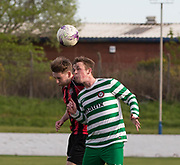 - Fintry Rovers (green and white) v FC Kettledrum (red and black) , DSMFA Balgay Bar 1st Division League Cup final at Glenesk Park, Dundee, Photo: David Young<br /> <br />  - &copy; David Young - www.davidyoungphoto.co.uk - email: davidyoungphoto@gmail.com