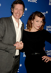 File photo of Paul W. S. Anderson, Milla Jovovich attending the Montblanc Meisterstuck Le Petit Prince event at One World Trade Center Observatory on April 4, 2018 in New York City, NY, USA. Actress Milla Jovovich has revealed she is pregnant again for a third time, after suffering a loss during her last pregnancy 'due to her age'. Photo by Dennis Van Tine/ABACAPRESS.COM