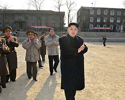 Undated photo from North Korean News Agency shows North Korean leader Kim Jong-un inspecting a Korean People's Army unit, in Pyongyang, North Korea. Photo released January 13, 2014. Photo by Balkis Press/ABACAPRESS.COM