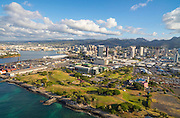 Honolulu Harbor, Oahu, Hawaii, aerial