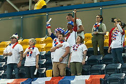 June 9, 2017 - Toronto, Ontario, Canada - Fans on the field during the basketball game - South Africa vs France  during 2017 Men's U23 World Wheelchair Basketball Championship which takes place in Ryerson's Mattamy Athletic Centre, Toronto, ON, in June 08 -16, 2017  (Credit Image: © Anatoliy Cherkasov/NurPhoto via ZUMA Press)