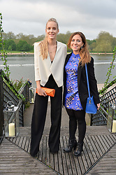 Left to right, HUM FLEMING and LOTTY BENNETT at a party to launch the Taylor Morris Explorer Collection held at the Serpentine Lido, Hyde Park, London on 11th May 2016.