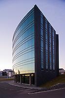 Kauphöll Íslands að Laugavegi 182. Í húsinu er líka sendráð Japans.  Iceland Stock Exchange at Laugavegur 182. The Japan Embassy is also in this building.