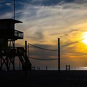 Lifeguard House at sunset