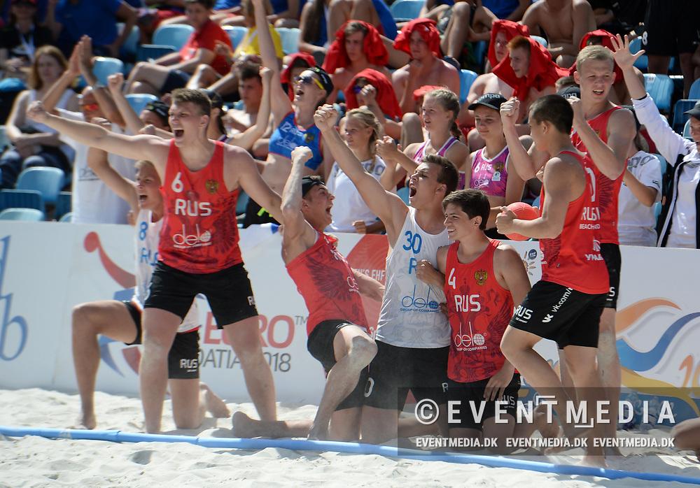 Medal Matches at the Junior European Beach Handball Championship 2017 in Jarun Beach, Zagreb, Croatia, 18.06.2017. Photo Credit: Søren T. Larsen/Allan Jensen/EVENTMEDIA.