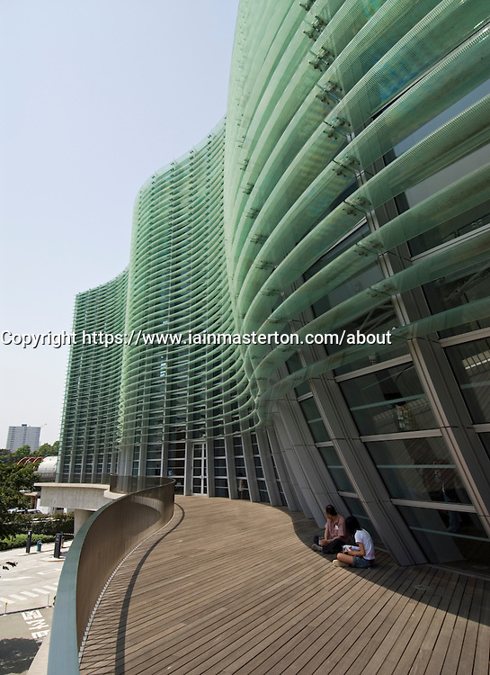 Exterior view of modern architecture of Tokyo National Art Center in Roppongi Toko