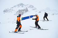 Follow cam staff during Slopestyle Practice at the 2013 X Games Tignes in Tignes, France. ©Brett Wilhelm/ESPN