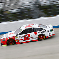 Brad Keselowski (2)  takes to the track to practice for the Gander Outdoors 400 at Dover International Speedway in Dover, Delaware.