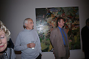 Trevor Green and Sir Christopher Frayling. 40th anniversary party. Modern Art Oxford. 14 July 2005. ONE TIME USE ONLY - DO NOT ARCHIVE  © Copyright Photograph by Dafydd Jones 66 Stockwell Park Rd. London SW9 0DA Tel 020 7733 0108 www.dafjones.com