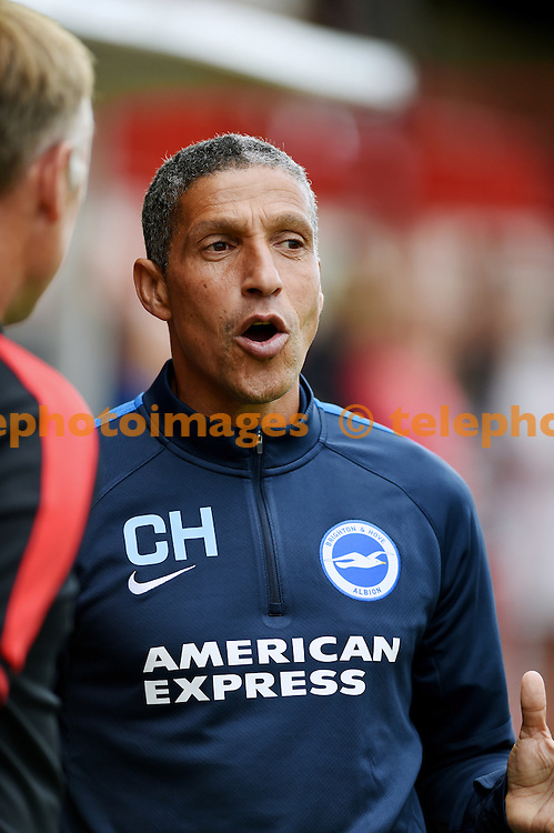 Brighton manager Chris Hughton during the pre season friendly match between Crawley Town and Brighton and Hove Albion at the Checkatrade.com Stadium <br /> 22nd July 2015<br /> Simon Dack / TELEPHOTO IMAGES <br /> 07967642437