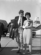 Lion's Touring Team Return on Flight 157 at Dublin Airport .01/10/1959 .