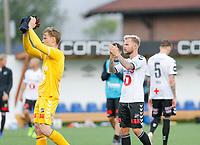 Fotball , 14. juli 2019 , Eliteserien<br /> Mjøndalen - Odd<br /> Sander Svendsen, Odd<br /> Sondre Rossbach, Odd<br /> Foto: Christoffer Hansen , Digitalsport