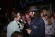 Jeremy Deller and Mike Nelson. 40th anniversary party. Modern Art Oxford. 14 July 2005. ONE TIME USE ONLY - DO NOT ARCHIVE  © Copyright Photograph by Dafydd Jones 66 Stockwell Park Rd. London SW9 0DA Tel 020 7733 0108 www.dafjones.com