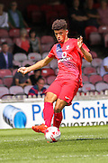 Ben Godfrey during the Friendly match between York City and Middlesbrough at Bootham Crescent, York, England on 11 July 2015. Photo by Simon Davies.
