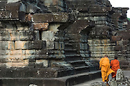 Two monks, Angkor Wat, Cambodia