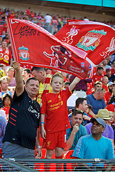 LONDON, ENGLAND - Saturday, August 6, 2016: Liverpool supporters before the International Champions Cup match against FC Barcelona at Wembley Stadium. (Pic by David Rawcliffe/Propaganda)
