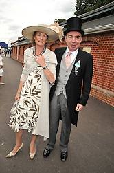 LORD & LADY LLOYD-WEBBER at the 3rd day of Royal Ascot 2009 on 18th June 2009.