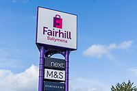 Fairhill Shopping Centre, Ballymena, Signage, September, 2019, 201909131508<br /><br />Copyright Image from Victor Patterson, Belfast, UK<br /><br />t: +44 28 9066 1296 (from Rep of Ireland 048 9066 1296)<br />m: +44 7802 353836<br /><br />victorpattersonbelfast@gmail.com<br />www.victorpatterson.com<br /><br />Please see my Terms and Conditions of Use at https://www.victorpatterson.com/page2<br />It is IMPORTANT that you familiarise yourself with them.<br /><br />Images used online incur an additional cost and must be visibly watermarked i.e. © Victor Patterson within the body of the image and copyright metadata must not be deleted. Images used on the Internet have a size restriction of 4kbs and are chargeable at rates available at victorpatterson.com.<br /><br />This image is only available for the use of the download recipient i.e. television station, newspaper, magazine, book publisher, etc, and must not be passed on to any third party. It is also downloaded on condition that each and every subsequent usage is notified within 7 days to victorpattersonbelfast@gmail.com<br /><br />The right of Victor Patterson to be identified as the author is asserted in accordance with The Copyright Designs And Patents Act (1988). All moral rights are asserted.