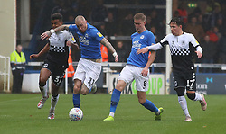 Marcus Maddison and Josh Knight of Peterborough United in action with Sam McCallum and Callum O'Hare of Coventry City- Mandatory by-line: Joe Dent/JMP - 26/10/2019 - FOOTBALL - Weston Homes Stadium - Peterborough, England - Peterborough United v Coventry City - Sky Bet League One