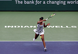 March 10, 2018 - Indian Wells, CA, U.S. - INDIAN WELLS, CA - MARCH 10: Venus Williams ( USA ) hits a forehand during the second round of the BNP Paribas Open on March 10, 2018, at the Indian Wells Tennis Gardens in Indian Wells, CA. (Photo by Adam  Davis/Icon Sportswire) (Credit Image: © Adam Davis/Icon SMI via ZUMA Press)