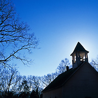 Cades Cove Baptist church at the Great Smoky Mountains, Tennessee, USA