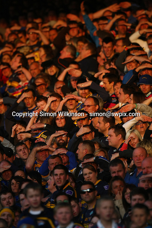 PICTURE BY VAUGHN RIDLEY/SWPIX.COM - Rugby League - Super League - Leeds Rhinos v St Helens Saints - Headingley, Leeds, England - 21/05/12 - Fans, Supporters.
