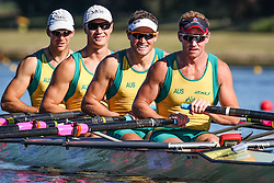 Australian Rowing Olympic Trials, March 2012, Sydney International Rowing Centre - Current World Champions - Dan Noonan, Karsten Forsterling, James McRae and Chris Morgan in the Mens Quad Scull