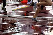 30.6.2012, Olympiastadion - Olympic Stadium, Helsinki, Finland..European Athletics Championship - Yleisurheilun EM-kisat..Juoksurata sateessa.