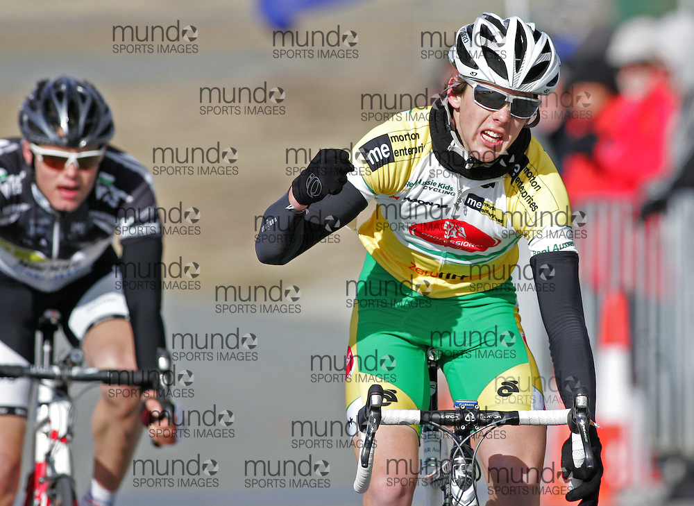 (10 Jul 2011---Canberra, Australia) Jack BECKINSALE winning the under-19 Sunday morning road race in the DBR Australia 2011 Junior and Women's Canberra Tour at the Stromlo Forest Park circuit in Canberra, ACT. Copyright Sean Burges / Mundo Sport Images, 2011