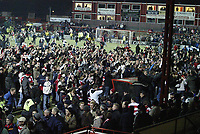 Photo: Aidan Ellis.<br /> Doncaster Rovers v Aston Villa. Carling Cup. 29/11/2005.<br /> Doncaster fans celebrte winning 3-0 on the pitch
