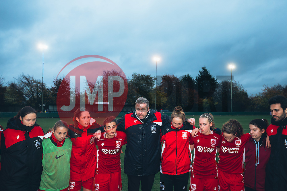 Bristol City Women win the match 5-0 not quite managing to overcome Yeovil Town's goal difference to win the league but with promotion to WSL 1 confirmed - Rogan Thomson/JMP - 06/11/2016 - FOOTBALL - The Northcourt Stadium - Abingdon-on-Thames, England - Oxford United Women v Bristol City Women - FA Women's Super League 2.