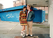 A couple, the girl wearing a tartan jacket and leg warmers, Bristol, 2002