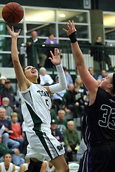 25 November 2014:  Kasey Reaber during an NCAA women's division 3 CCIW basketball game between the Wisconsin Whitewater Warhawks and the Illinois Wesleyan Titans in Shirk Center, Bloomington IL