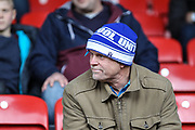 Hartlepool United fans during the EFL Sky Bet League 2 match between Leyton Orient and Hartlepool United at the Matchroom Stadium, London, England on 17 April 2017. Photo by Andrew Lewis.