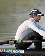 Caversham, Great Britain,  LM1X, Zac PURCHASE, training session, GB Rowing Media Day at the Redgrave Pinsent Rowing Lake. GB Rowing Training Centre. Tue 28.04.2009  [Mandatory Credit. Peter Spurrier/Intersport Images]