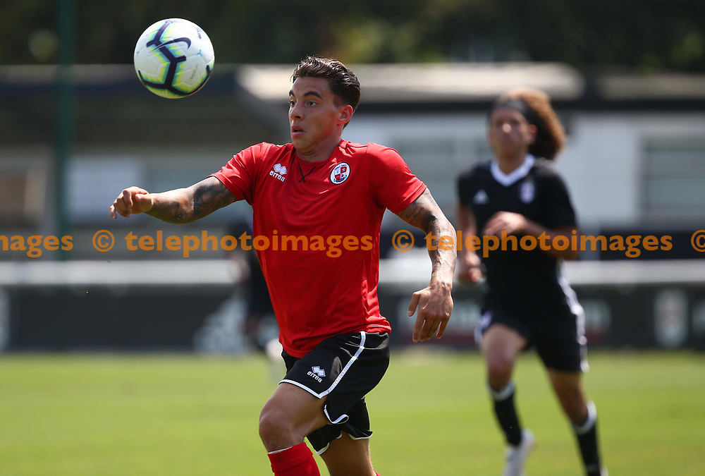 Reece Grego-Cox in action during the pre season friendly between Fulham and Crawley Town at Motspur Park Training Ground, London, UK. 07 July 2018.