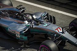 March 10, 2017 - Montmelo, Catalonia, Spain - VALTTERI BOTTAS (FIN) in his Mercedes W08 EQ Power+ at the pit stop at day 8 of Formula One testing at Circuit de Catalunya (Credit Image: © Matthias Oesterle via ZUMA Wire)