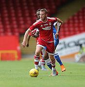 Adam Rooney during the Pre-Season Friendly match between Aberdeen and Brighton and Hove Albion at Pittodrie Stadium, Aberdeen, Scotland on 26 July 2015.