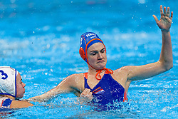 21-01-2020 HUN: European Water polo Championship, Budapest <br /> Slovakia - Netherlands 2—32 / Maud Megens #2of Netherlands, Janka Kurucova #3 of Slovakia during LEN European Aquatics Waterpolo on January 21, 2020. SVK vs Netherlands in Duna Arena in Budapest, Hungary