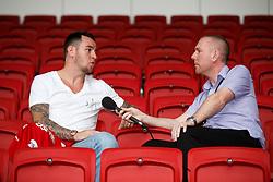 Bristol City's new signing Lee Tomlin is interviewed ahead of their 2016/17 Sky Bet Championship Campaign - Mandatory byline: Rogan Thomson/JMP - 04/07/2016 - FOOTBALL - Ashton Gate Stadium - Bristol, England - Bristol City New Signings.