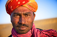 Portrait of Rabari man in Rajasthan, India.